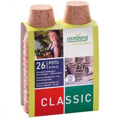Pack de 26 pots biodégradable semis